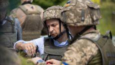 Президент Украины посетил передовые позиции ВСУ