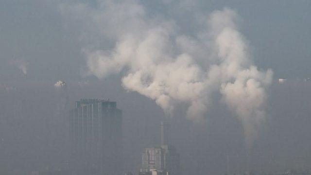 В Киеве наблюдается высокий уровень загрязнения воздуха