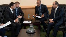 Президент Украины встретился с президентом Египта