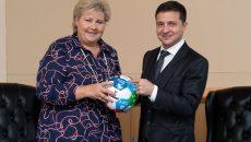 Президент Украины встретился с премьером Норвегии