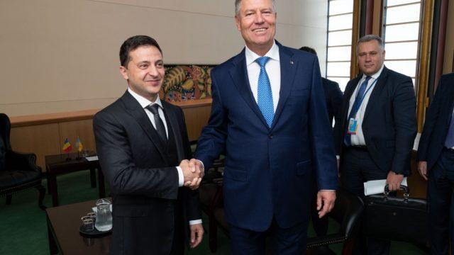 Зеленский встретился с президентом Румынии