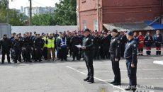 В Умань прибыл сводный коллектив полиции