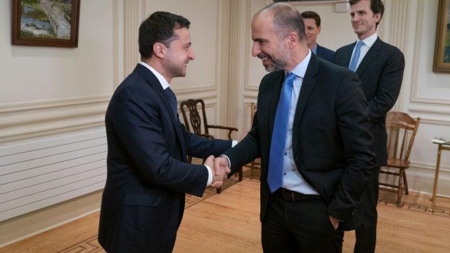 Президент Украины встретился с главой Uber