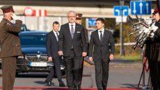 Президенты Украины и Латвии начали встречу
