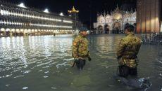 В Венеции отступает вода