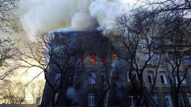 Выросло количество погибших на пожаре в Одесском колледже