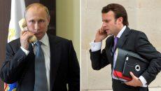 Путин и Макрон обсудили вопросы транзита российского газа в страны ЕС через Украину