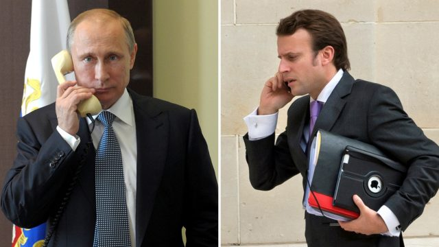 Макрон и Путин поговорили об Украине