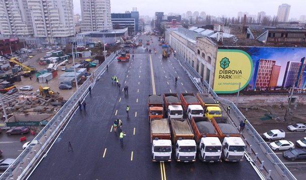 На Шулявском мосту обустраивают съезды