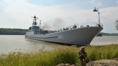 Завершен ремонт десантного корабля