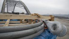 Первая партия тросов для Подольско-Воскресенского моста прибыла в Киев