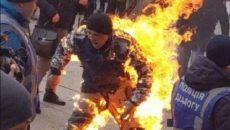 Житель Сумщины устроил самоподжег возле Офиса президента