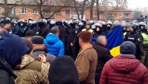 На Полтавщине между полицией и местными жителями произошли столкновения