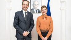 Елена Зеленская встретилась с Послом Австрии в Украине