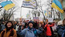 В центре Киева маршировали женщины