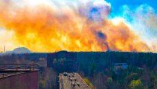 Пожар в Чернобыльской зоне приблизился к Припяти