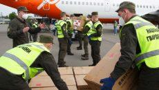 В Украину прибыл самолет со средствами индивидуальной защиты для врачей