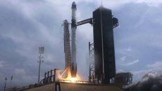 SpaceX запустила Crew Dragon с астронавтами