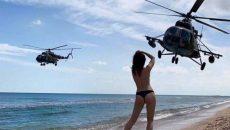 Военный вертолет совершил аварийную посадку