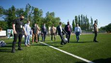Президент принял участие в открытии обновленного стадиона в Новой Каховке