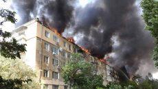 В Новой Каховке горела многоэтажка