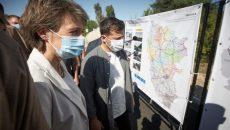 Президенты Украины и Швейцарии ознакомились с объектом «Большого строительства»