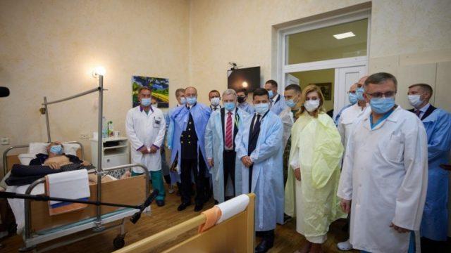 Владимир и Елена Зеленские посетили военный клинический госпиталь