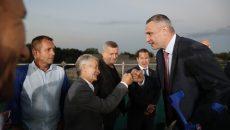 Кличко открыл мемориал, где подняли самый большой флаг Украины
