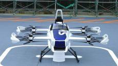 Японский стартап SkyDrive продемонстрировал публике летающий электромобиль SD-03