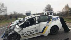 В Украине с участием полицейских произошло 877 ДТП