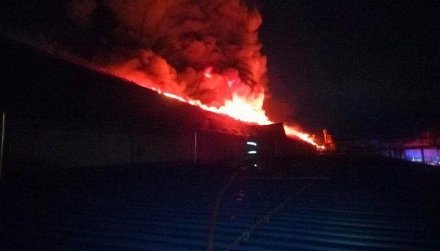 В Мукачево горела лыжная фабрика
