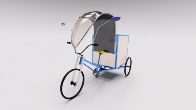 Украинский стартап представил трехколесный электрический велосипед
