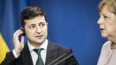 Зеленский обсудил с Ангелой Меркель ситуацию на Донбассе