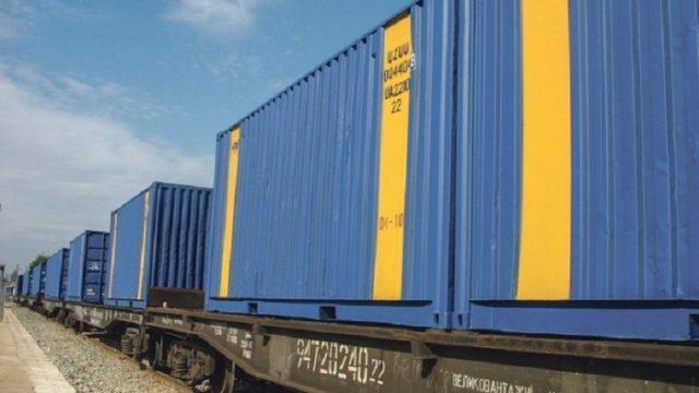 УЗ за год приняла 22 контейнерных поезда