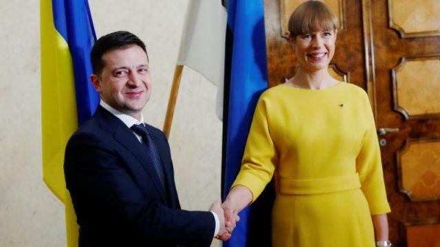 Зеленский поблагодарил президента Эстонии за поддержку территориальной целостности Украины