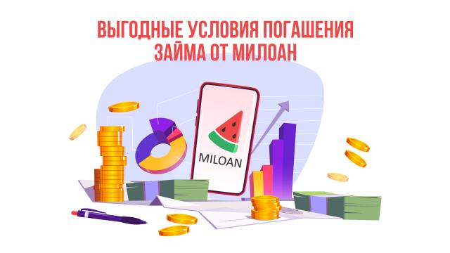 Выгодные условия погашения займа от Милоан