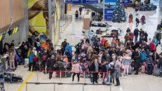 Пассажиропоток украинских аэропортов уменьшился на 64%