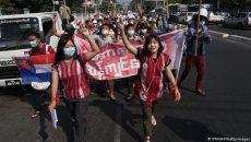 В Мьянме протестуют против военного переворота