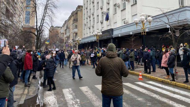 В Киеве завершилась акция протеста против приговора Стерненко