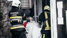 В Киеве загорелся дом престарелых