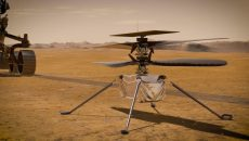 Вертолет NASA пролетел на Марсе 50 метров (видео)
