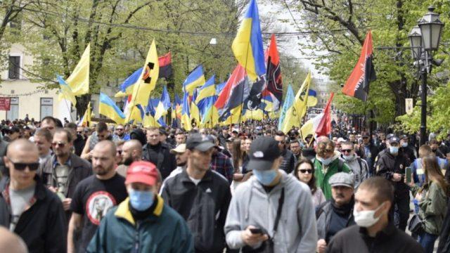 В Одессе закончился Марш защитников города