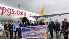 Самолет авиакомпании Pegasus Airlines впервые приземлился в Херсоне