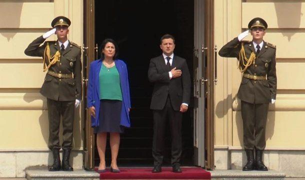 В Украину приехала президент Грузии