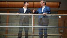 Зеленский в Германии обсудил развитие торгово-экономического сотрудничества между странами