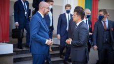 Зеленский в Вильнюсе скоординировал с президентом ЕС подготовку к 23-му Саммиту Украина – ЕС