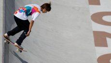 Японский скейтбордист стал первым в истории олимпийским чемпионом по скейтбордингу