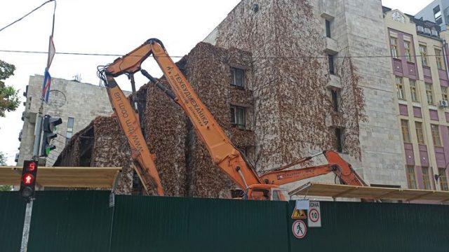 Минкульт призывает остановить демонтаж здания