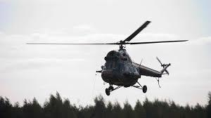 В Николаевской области упал вертолет Ми-2