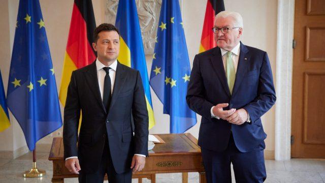 Зеленский встретился с президентом Германии